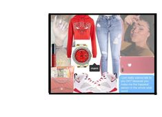 """"""""""" by makaelahangelah ❤ liked on Polyvore featuring Topshop, Rolex and NYX"""
