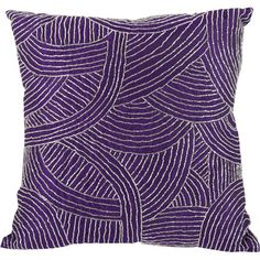 Toss this purple faux silk pillow on your living room sofa, arm chair, or chaise for a pop of color.      Product: Pillow...