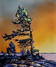 title: Georgian Bay acrylic on canvas 40 x 48
