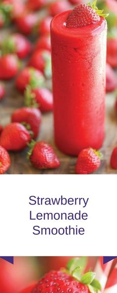 Strawberry and Strawberry Blueberry Smoothie RecipesSeveral popular smoothie recipes have something in keeping Rasberry Smoothie Recipe, Strawberry Blueberry Smoothie, Strawberry Lemonade, Strawberry Recipes, Fruit Recipes, Breakfast Smoothies, Smoothie Drinks, Healthy Smoothies, Healthy Drinks