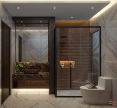 Taking Bathroom Interiors to the next level? Here's a luxurious, high-end Interior design transformation of a Residential Home. Empire Design, Residential Interior Design, Bathroom Interior, Tub, Ranch, House Design, Interiors, Stone, Luxury