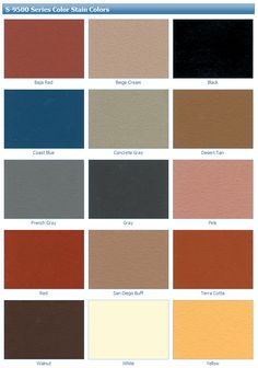 13 Best Water-Based Concrete Stain Color Charts images | Concrete ...
