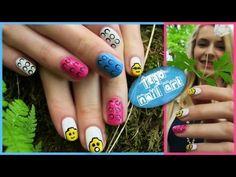 ▶ Lego Nail Art! Lego Heads, 3D Bricks, Blocks Nail Design. Toy Nail Art. Nail art in Future - iPhone - YouTube