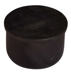 Bulk Wholesale U-Shaped Box / Container in Black Color with a Lid on the Top – Hand-Crafted in Marble – Small Storage Accessories for Bathroom Counters & Kitchen Shelves