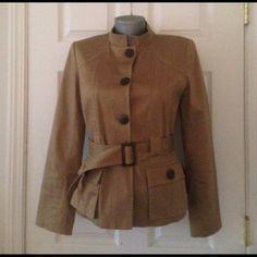 safari jacket. safari jacket. Size 4 Non-smoking home weart just 2 times no trade  Jackets & Coats
