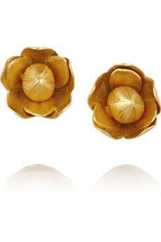 Pippa Small 18-karat gold flower earrings | NET-A-PORTER