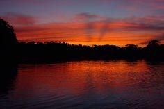 por do sol rio amazonas