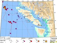Otra Realidad Misterios y Conspiraciones: Enjambre sísmico en la costa de la Isla de Vancouv...