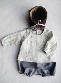Sweet Handmade Unisex Baby Outfit | twopointscouture on Etsy