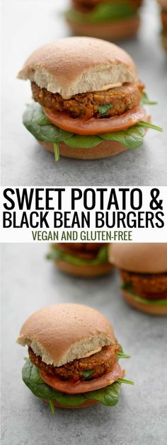 Vegan Black Bean and Sweet Potato Burgers! Vegan and gluten-free patty! You've gotta try this healthy plant-based veggie burger, holds together without breadcrumbs and perfectly spiced! #veggieburger #burger #dinner #sweetpotato #blackbean #vegan #vegetarian #glutenfree   www.delishknowledge.com