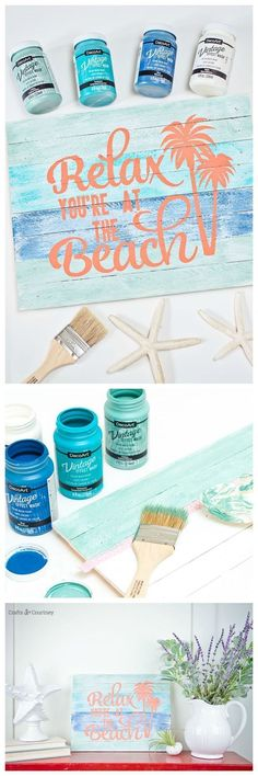 DIY Beach Signs are one of my favorite projects to work on. Its a perfect touch for my coastal theme home. DIY coastal decor projects are always great.