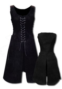 Larp woman Armor - noblewoman, black - Women's Armor - Leather Armor - Armour