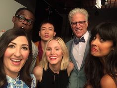 """D'Arcy Carden on Instagram: """"could never explain what these people mean to me. i love them. forever. #goodbyegoodplace #thegoodplace"""" The Good Place Cast, Fandom Crossover, Everything Is Fine, Never, Tv Shows, It Cast, Fandoms, Good Things, My Love"""