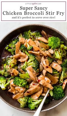 Saucy Chicken Broccoli Stir Fry is the perfect 25 minute comfort food! This stir fry comes together so quickly without much prepwork and is great for the an easy dinner! #easydinnerrecipes #dinnerrecipes #chickenrecipes #chickendinnerideas #chickenbroccoli #stirfry | Littlespicejar.com Easy Dinner Recipes, Healthy Dinner Recipes, Appetizer Recipes, Dinner Ideas, Healthy Meals, Chicken And Brocolli, Chicken Broccoli Stir Fry, Brocolli Recipes, Chicken Recipes