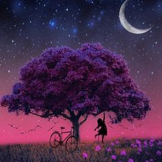 You& a sky full of stars! 💖💜✨ Would you rather relax here right now? Beautiful Dark Art, Beautiful Nature Wallpaper, Beautiful Life, Beautiful Pictures, Night Sky Painting, Image Nature, Sky Full Of Stars, Moon Art, Animes Wallpapers