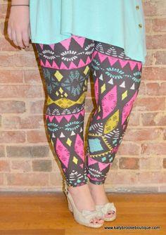 Women's Colorful Diamonds Leggings: Katybrooke Boutique