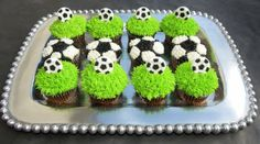 Indulge With Me: Soccer cupcakes!