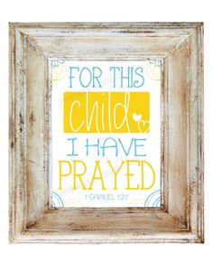 For this Child I Prayed Printable Wall Art by PrintableBlessings