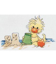 Janlylnn® 7''x5'' Counted Cross Stitch - Suzy's Zoo Sandcastle Fun: counted cross stitch kits: cross stitch: needle arts: Shop | Joann.com
