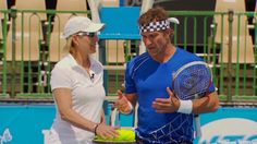 Pat Cash and Martina Navratilova.  #tennis #tennisplayer #patcash #sport
