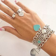 Tiffany OFF! 65 Ideas Jewerly Tiffany And Co Rings Charm Bracelets Tiffany Und Co, Tiffany And Co Jewelry, Tiffany Rings, Tiffany Bracelets, Tiffany Necklace, Tiffany Blue, Charm Bracelets, Tiffany Atlas, Tiffany Outlet
