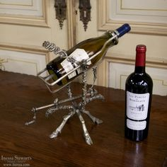 Antique Wine Rooms, Wineries & Vineyards | Antique Accessories | Culinary Antiques | Antique French Mechanical Wine Serving Cradle | www.inessa.com