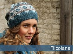 This lovely hat is designet using the same colorwork principles as the original Bohus sweaters, where purl stitches in the colorwork add to the depth and nuance of the design.