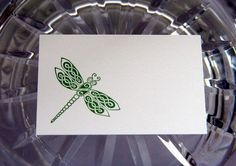 Green Celtic Dragonfly