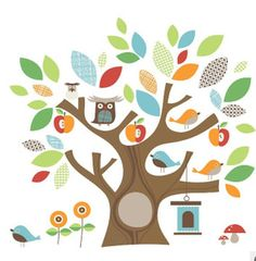 wall stickers bambine : decals stickers art mural for nursery kids baby room home deco see ...