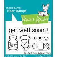 Lawn Fawn (ローンフォーン)- Clear Stamp(クリアースタンプ) - get well soon