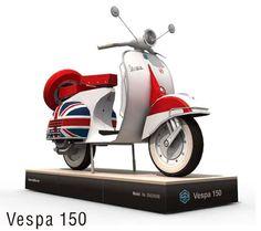 Paper Model - Vespa 150