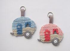 Caravan key fob bag charms camping caravan mobile by SavoeDesign Handmade Christmas Crafts, Crochet Christmas Gifts, Crochet Gifts, Diy Crochet, Amigurumi Patterns, Crochet Patterns, Crochet Keychain Pattern, Crochet Sheep, Crochet For Beginners