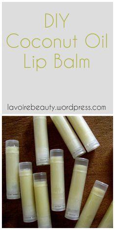 DIY Coconut Oil Lip Balm | all-natural