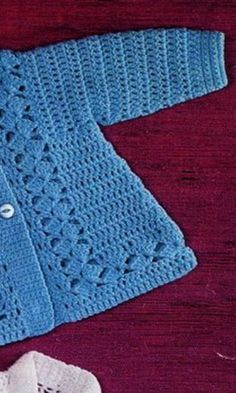 Crochet Baby Sweaters, Knitted Baby Cardigan, Crochet Baby Clothes, Crochet Hats, Coat Patterns, Baby Patterns, Clothing Patterns, Crochet Patterns, Dress Patterns
