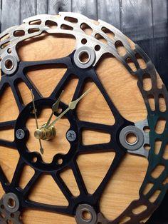 Recycled Bike Disc Rotor Clock