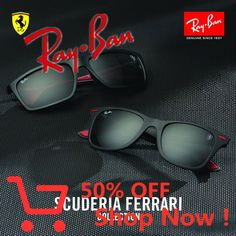 Ray-Ban x Scuderia Ferrari // A dynamic collection for those who aren't afraid to set the pace Wayfarer Sunglasses, Dynamic Collection, Ant Bites, St Columba, 1st Day Of School, Frappe, Babywearing, Stussy, Shopping