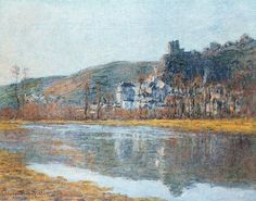 1881 Claude Monet The chateau of La Roche Guyon (private collection)(60 x 80 cm)