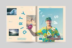 In late Wedge & Lever was hired to redesign Transworld Surf magazine. Our objective was to shift the creative direction in support of a photo-driven editorial model while breathing new life into the magazine format. Editorial Design Layouts, Page Layout Design, Magazine Layout Design, Brochure Layout, Brochure Design, Corporate Brochure, Brochure Template, Graphic Design Posters, Graphic Design Typography