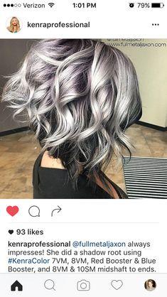 Violet silver hair...