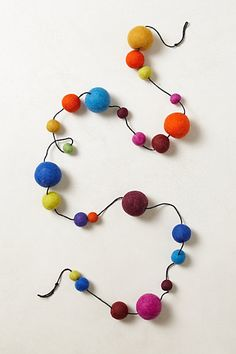 I see no reason why I can not make this Pompom Garland #anthropologie