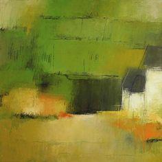 """Irma Cerese  Clock Farm 24""""x24""""   acrylic on canvas"""