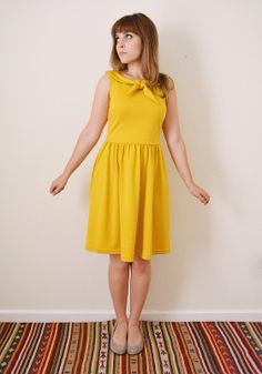 Colette Moneta Dress with Tie Collar by Devon of Miss Make