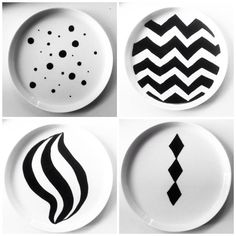 Porcelain painting with Sostrene Grene plates // A whole Lotte love