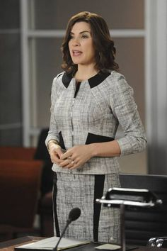 Zip-front jackets are a staple for Julianna Margulies's character, Alicia Florrick, on the 'The Good...