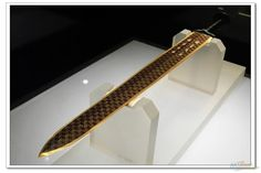 The Sword of Goujian is an archaeological artifact of the Spring and Autumn Period (771 to 403 BCE) found in 1965 in Hubei, China. Renowned for its sharpness and resistance to tarnish, this historical artifact of ancient China is currently in the possession of the Hubei Provincial Museum.