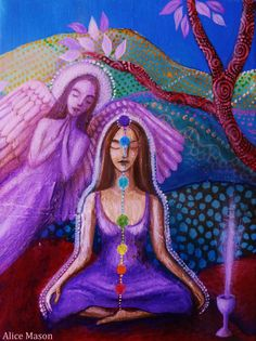 The Angel and the Violet Ray by AliceMasonArtist on Etsy
