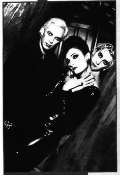 Siouxsie and the Banshees.. this must've been taken on the face to face set. that dress
