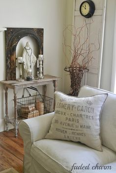 Faded Charm: pillow