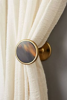 Discover unique curtain rods, finials and tiebacks at Anthropologie, including the season's newest arrivals. Mug Decorating, Interior Decorating, Interior Design, Cheap Coffee Mugs, Earthy Home Decor, Curtain Hardware, Curtain Tie Backs, Curtain Designs, Curtains With Blinds