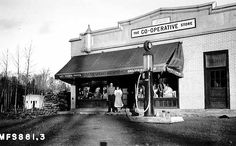 The Co-operative Store, Finland, MN.  Photograph Collection 1932
